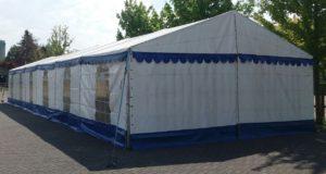 Aluminium constructie tent huren Serooskerke